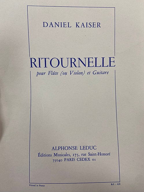 Kaiser: Ritournelle fl/vln and guitare