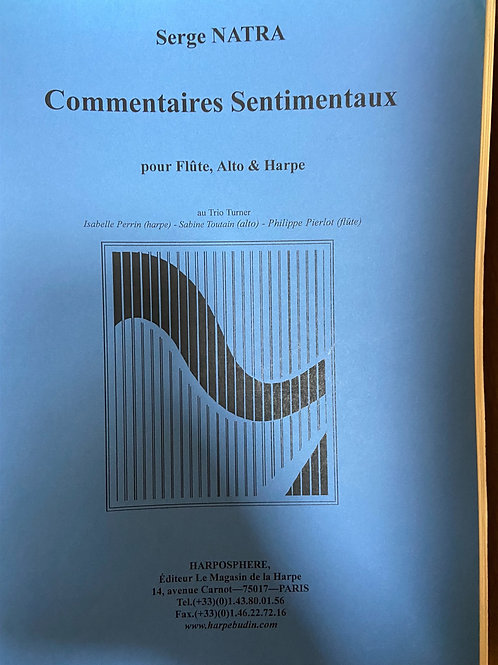 Natra: Commentaires Sentimentaux fl, alto and hp