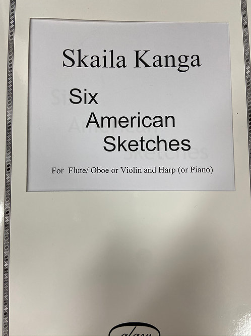 Kanga: Six American Sketches fl/ob/vln and harp