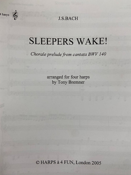 Bach: Sleepers Wake arr. 4 harps Bremner