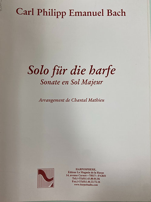 C.P.E.Bach: Sonata arr. Mathieu
