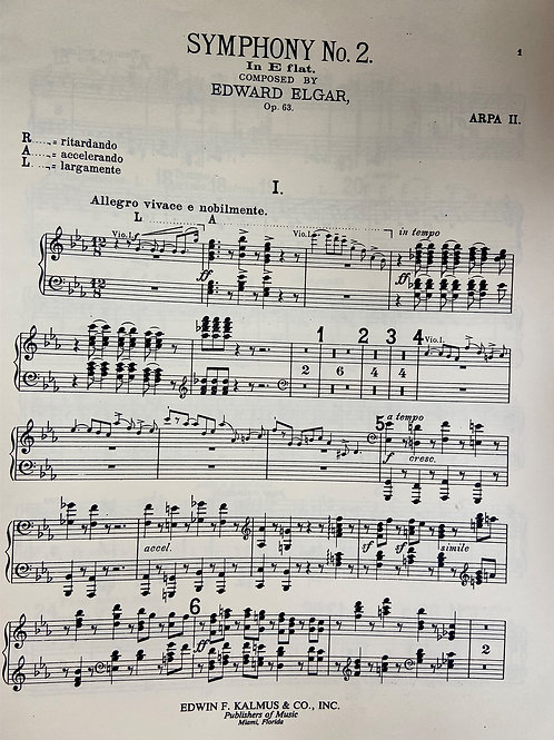 Elgar: Symphony No. 2 - 2nd harp part