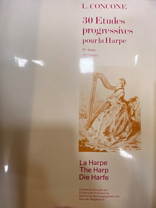 Concone: Etudes for the harp Vol 2
