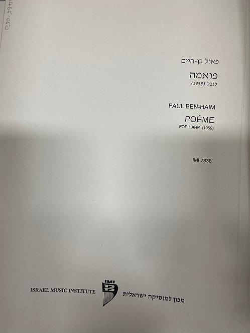 Ben Haim: Poeme