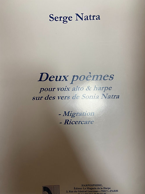 Natra: Deux Poemes for harp and voice