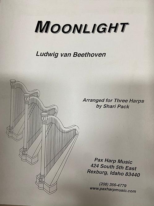 Beethoven: Moonlight Sonata arr. Pack for 3 harps
