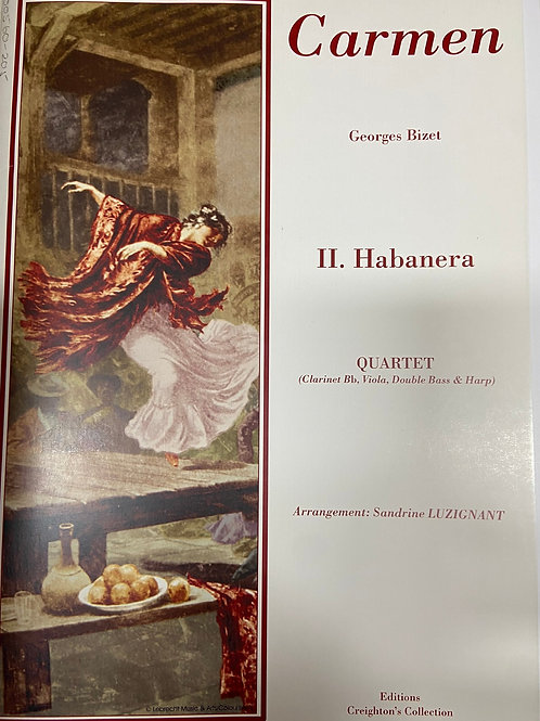 Bizet: Habanera for cl,vla, db and hp