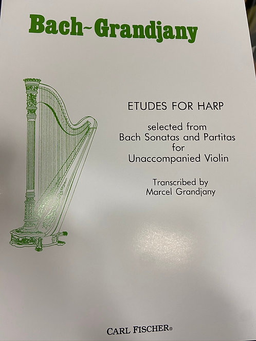 Bach: Twelve Etudes arr. Grandjany