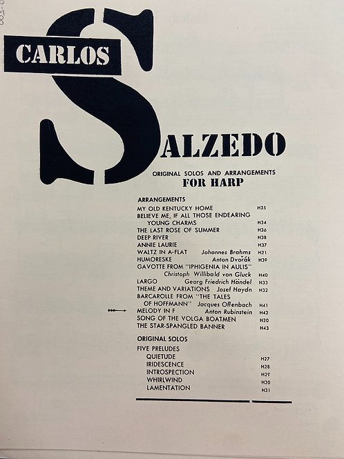 Salzedo: Melody in F Rubenstein