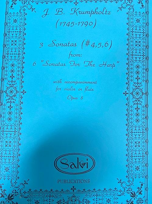 Krumpholtz: Three Sonatas #4,5,6