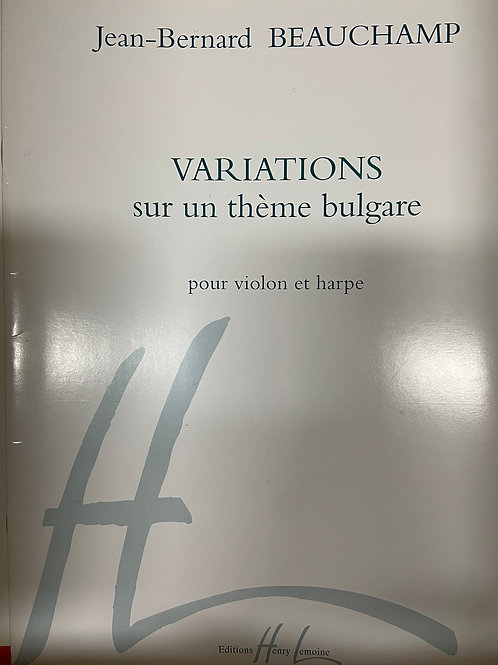 Beauchamp: Variations sur un theme Bulgare for vln and hp