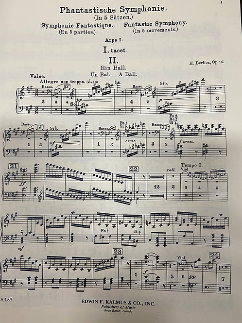 Berlioz: Symphony Fantastique hp 1 pt