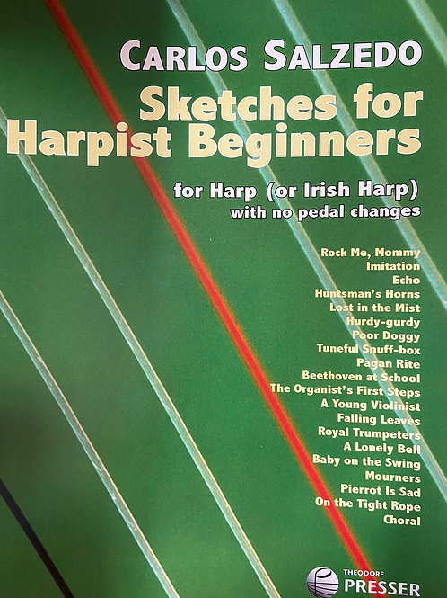 Salzedo: Sketches for Harpist Beginners bk 1 & bk 2 combined