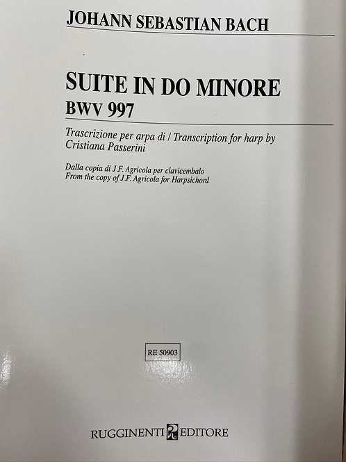 Bach: Suite in C Minor BWV997