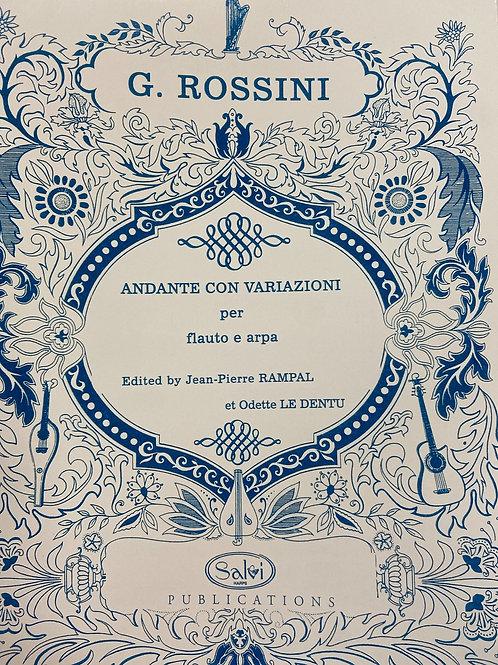 Rossini: Andante Con Variazioni per flauto e arpa