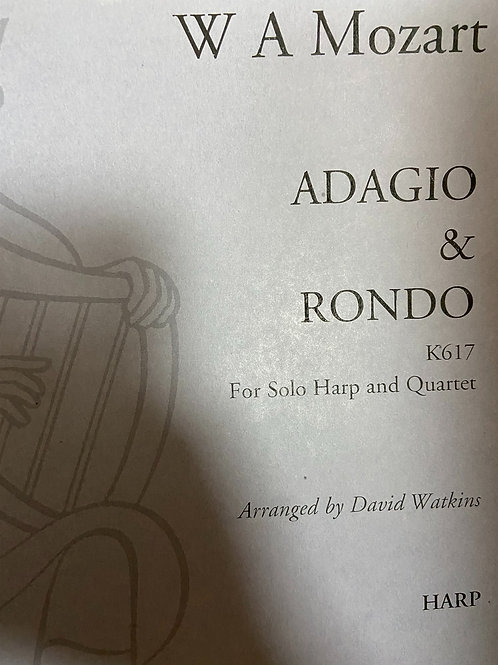 Mozart: Adagio and Rondo K617 arr. Watkins for hp and quartet