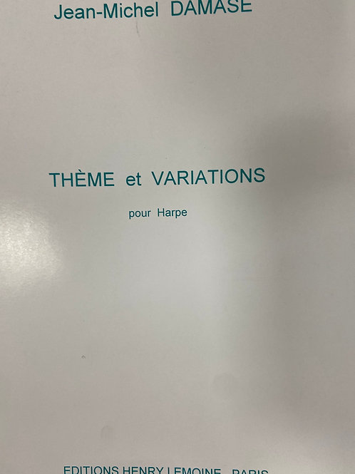 Damase: Theme and Variations for Harp