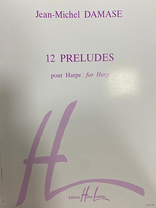 Damase: 12 Preludes for Harp