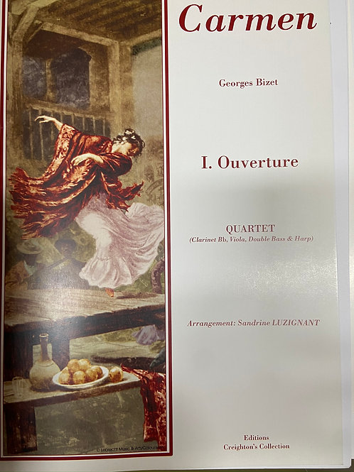Bizet: Overture for cl,vla, db and hp
