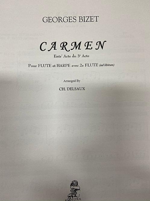 Bizet: Entr'Acte arr. Delsaux flute and harp