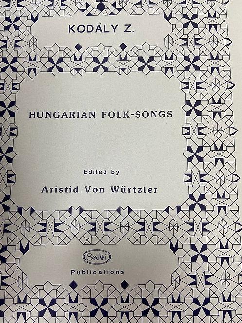 Kodaly: Hungarian Folk-Songs ed. Von Wurtzler