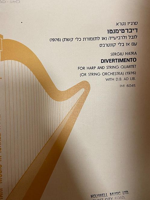Natra: Divertimento for harp and string quartet