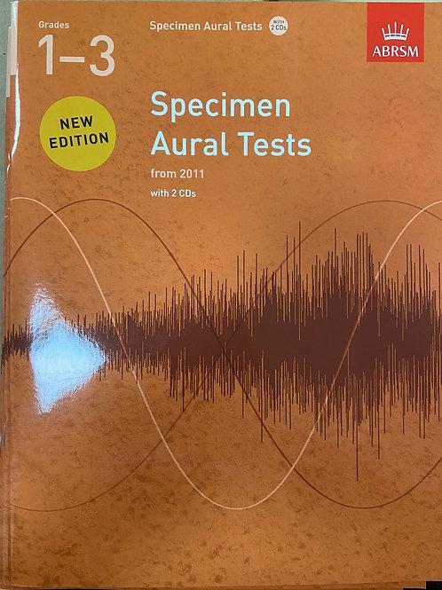 ABRSM: Specimen Aural Tests Grades 1-3 (2011)