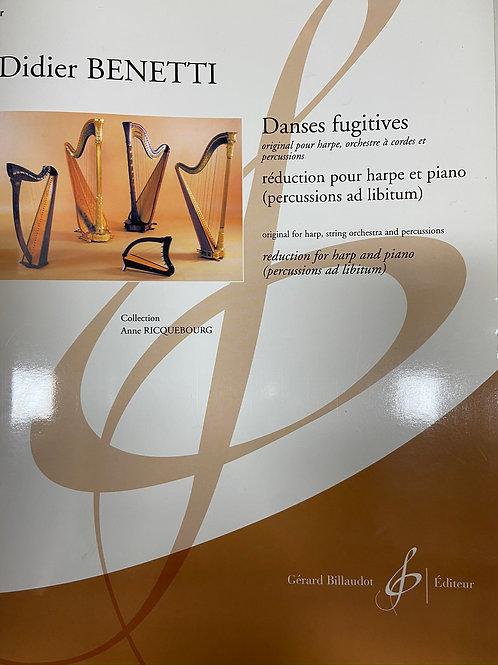 Benetti: Danses Fugitives hp and piano