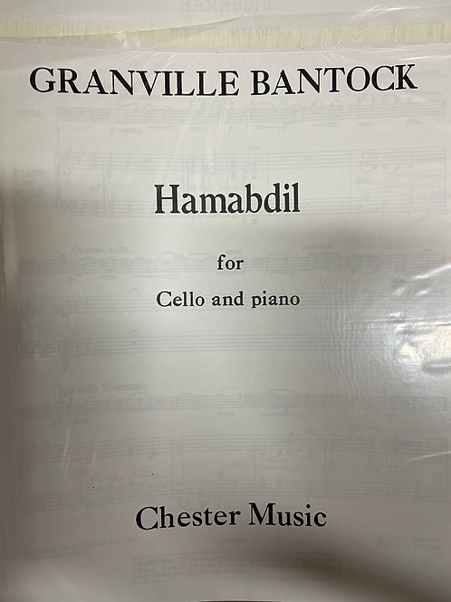 Bantock: Hamabdil for cello and piano