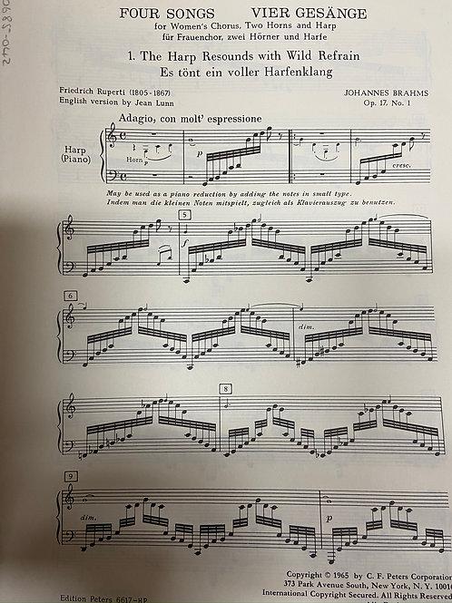 Brahms: Four Song Op.17 harp part
