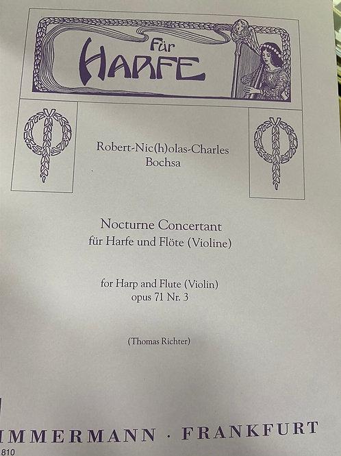 Bochsa: Nocturne Concertante op.71 no.3 harp and flute