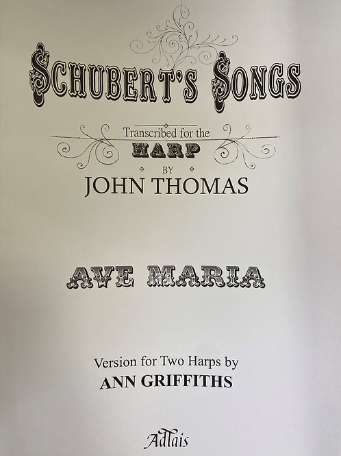 Schubert arr. Thomas: Ave Maria arr. Griffiths for two harps