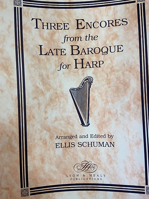 Schuman: Three Encores From The Late Baroque
