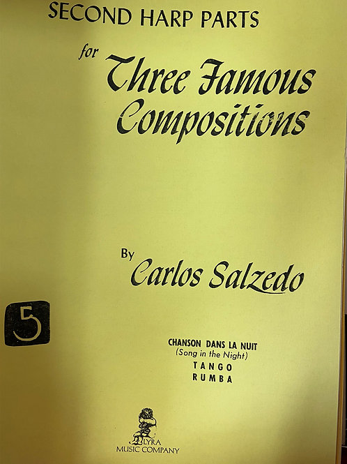 Salzedo: 2nd Harp Part for Three Famous Compositions
