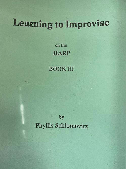 Schlomovitz: Learning to Improvise Book 3