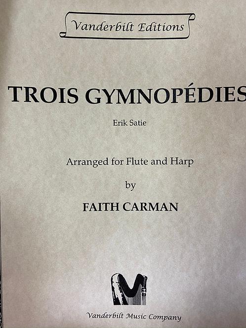 Satie: Three Gymnopedies for fl & hp arr. Carman
