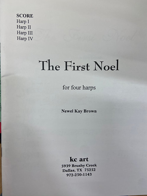 Brown: The First Noel for four harps