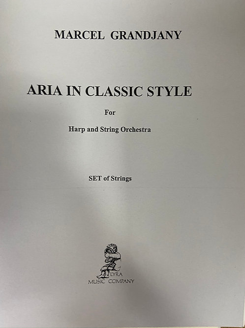 Grandjany: Aria in a Classical Style (string parts)