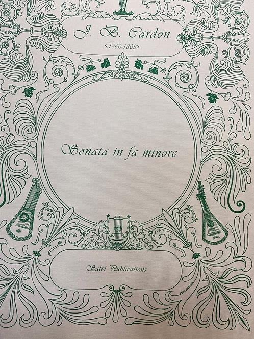 Cardon: Sonata in F Minor