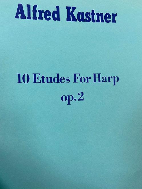 Kastner: 10 Etudes for Harp opus 2