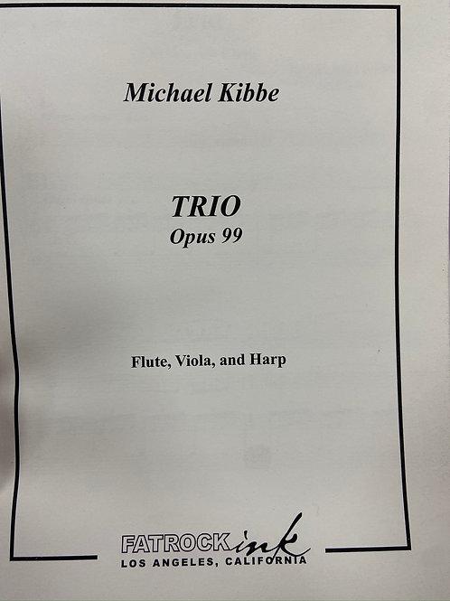 Kibbe: Trio Op 99 fl, viola and harp