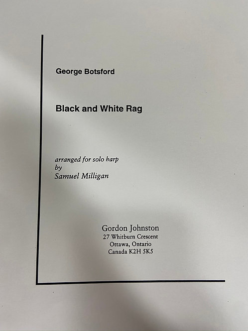 Botsford: Black and White Rag arr. Milligan