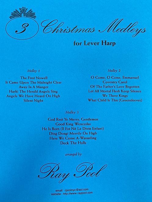 Pool: Three Christmas Medleys for lever harp