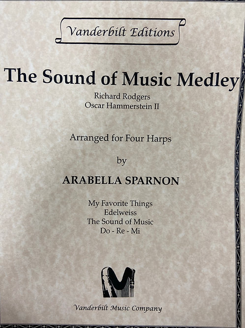 Rogers: Sound of Music Medley arr. Sparnon 4 harps