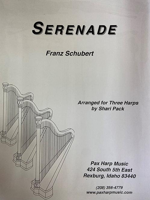 Schubert: Serenade arr. Pack for 3 harps