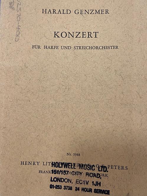 Genzmer: Konsert Harp & String Orchestra