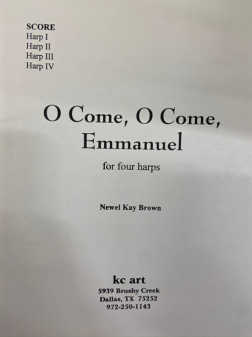 Brown: Oh Come Oh Come Emmanuel for four harps