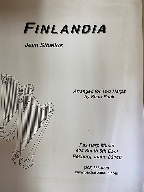 Sibelius: Finlandia arr. Pack for 2 harps