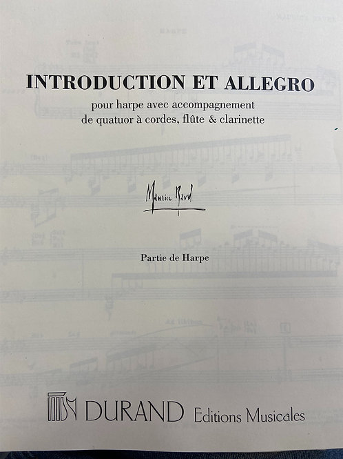 Ravel: Introduction and Allegro harp part