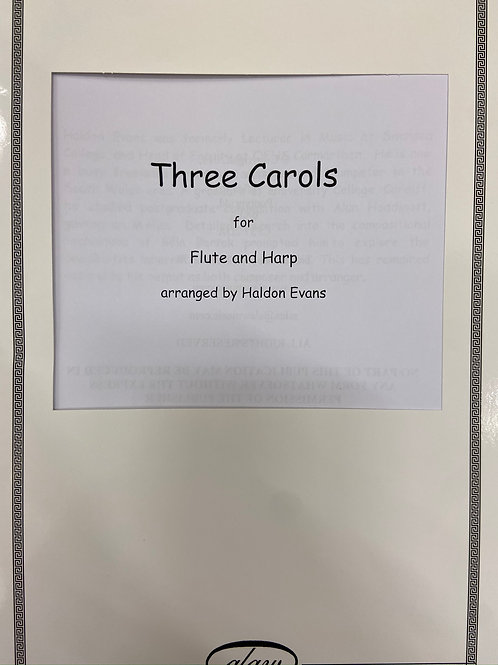 Evans: Three Carols for flute and harp